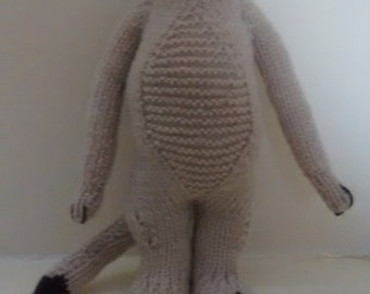 Hand made knitted toy Meerkat