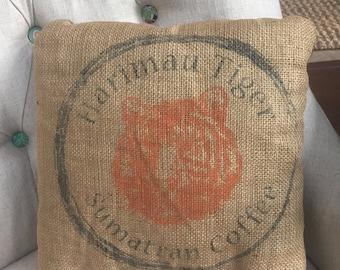 Coffee bean bag pillow