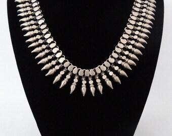 Oxidized Sterling Silver Decorative Necklace