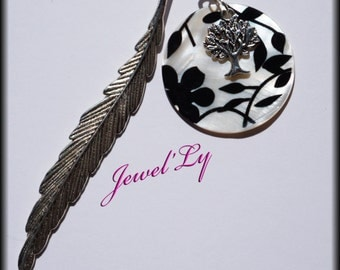 Mother of Pearl bookmark and tree