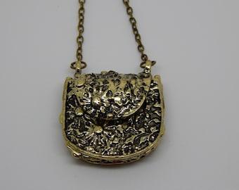 Womens Bronze Bag Pendant