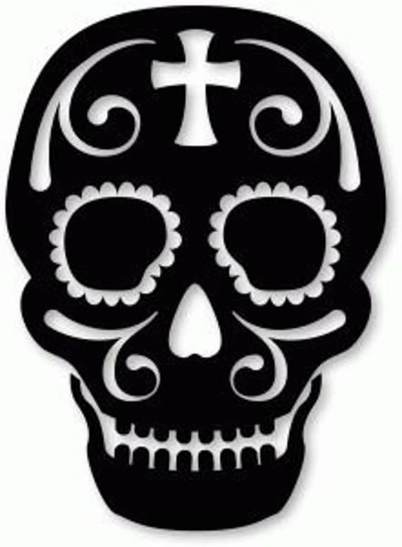 Sugar Skull Halloween Silhouettes 21 Pack Silhouette SVG ...