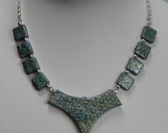 Contemporary Polymer Clay Necklace & Earring Set