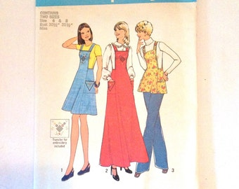Vintage Simplicity pattern number 7098, Simplicity dress pattern, 1970s dress patterns, vintage sewing patterns, sewing dress pattern