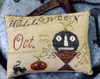 Halloween Pinkeep by Stacy Nash Counted Cross Stitch Pattern/Chart