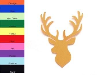25 Pack - Paper Deer Shape, Deer Head Die Cut, Deer Cut Out, Paper Wild Animals, Paper Party Supplies