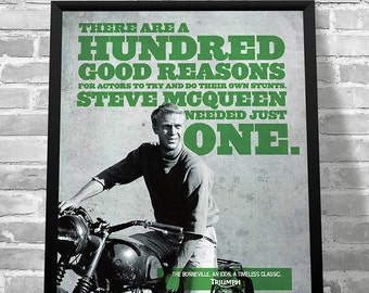 steve mcqueen etsy. Black Bedroom Furniture Sets. Home Design Ideas