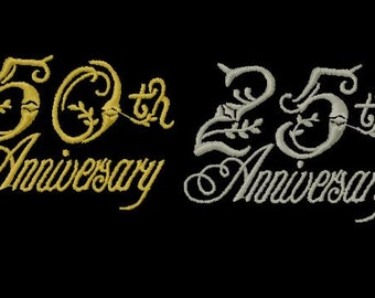 Anniversary Machine Embroidery Design, 4x4 Hoop Size,PES Format