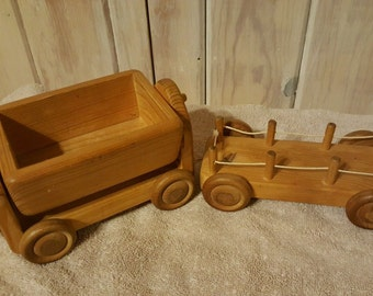 Vintage Wooden Pull Toy Kinderkram Spielzeug Germany