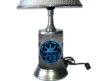 Star Wars Lamp with chrome shade, Galactic Republic