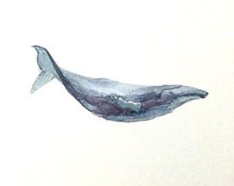 """Humpback Whale #2, 4""""x4"""""""