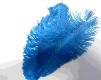 10pieces royal blue ostrich feathers(12-14inch)