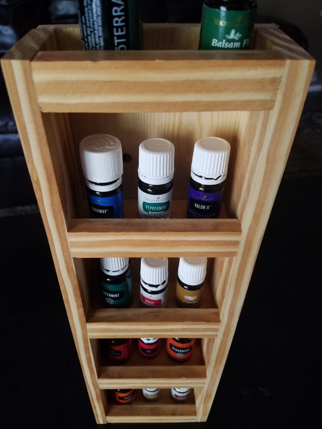 Pinewood Essential Oil Wall Rack
