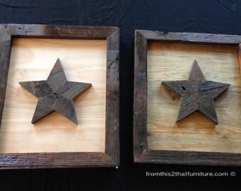 Framed Wooden Stars