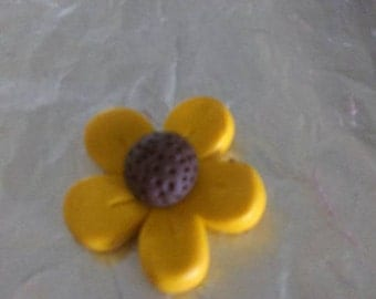 Polymer clay flower magnets