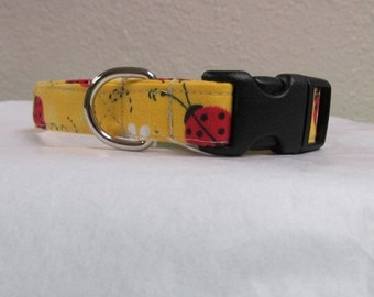 Handmade Adjustable Fabric Dog Collar