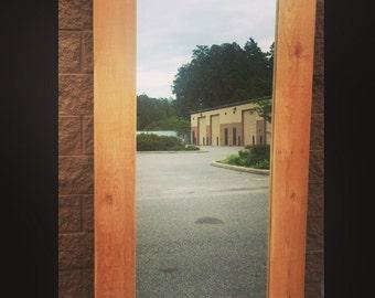 Mirrored Frame door, Custom Mirrored sliding Barn Door