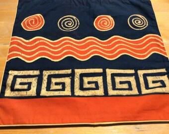 Batik-Kissenbezug- Wave 40x38,5 cm
