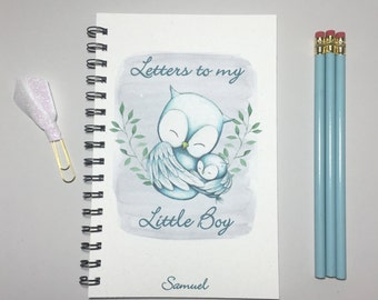 Letters to my Little Boy, Baby Keepsake Gift, Baby, Journal, Notebook, Little Boy, Gift from Mother, Letters to My Son, Owl, Baby Shower