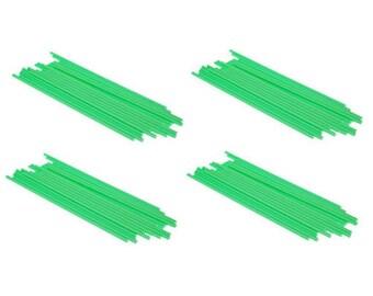 """GREEN - 4.5"""" (114mm) Plastic Lollipop Sticks"""
