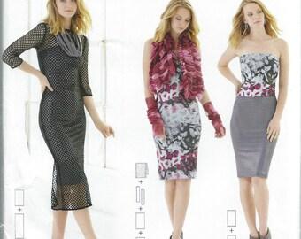 Simplicity S0461, 1257, Sewing Pattern, Misses, Skirt, Column Skirt, Dress, Column Dress, Gauntlets, Womens, Sizes XXS-XXL, Plus Size