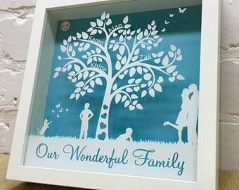 Family Tree, Personalised Family Tree Shadow Frame
