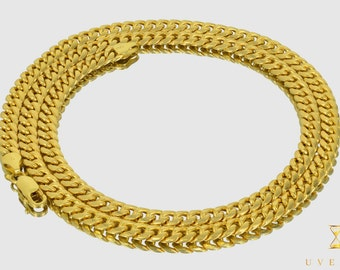 """6mm 10K Semi-Solid Yellow Gold Miami Cuban Link Men's Chain Necklace 16""""-32"""" inches"""
