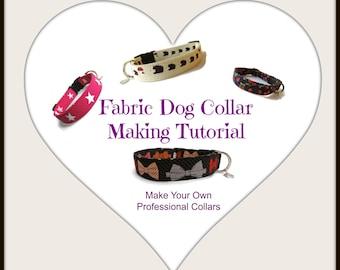 Dog Collar Making Tutorial, Make Fabric Dog Collars, Make Hundreds Of Collars, PDF Guide,
