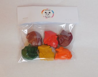 Transport Wax Crayons, Car, Plane, Train, Boat, Colouring in, Drawing, stocking Filler, party bag, children's Gift,Kids Present