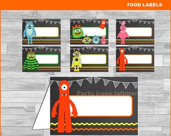 Yo Gabba Gabba food labels Instant download Yo Gabba Gabba Chalkboard food tent cards  sc 1 st  Etsy & Yo gabba tags | Etsy