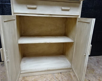 An Oak 2 Drawer over Cupboard Upcycled