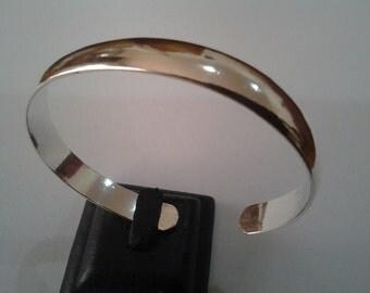 """Solid 925 Sterling Silver Cuff Bangle  Men/Women Open Bracelet Adjustable 6.7"""""""