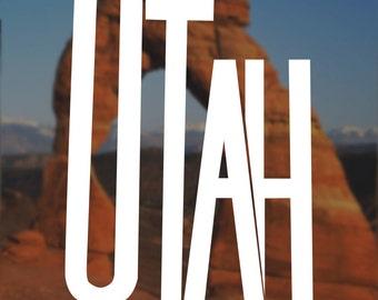 Utah Decal, Utah Sticker, Jazz Decal,  Laptop Decal, Laptop Sticker, Macbook Decal