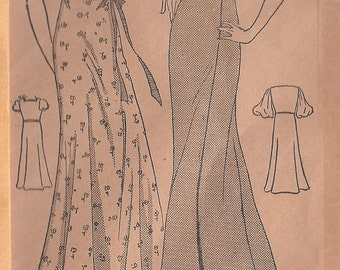 "1930s Vintage Sewing Pattern B34"" NEGLIGEE, NIGHTGOWN (R287) Home Journal Pattern 1034"