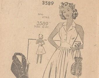 "1940s Vintage Sewing Pattern B32"" DRESS (R730)"