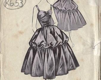 "1950s Vintage Sewing Pattern B34"" DRESS (R653) Maudella 4968"