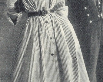 """1950s Vintage Sewing Pattern COAT-DRESS-NEGLIGEE B38"""" (185) McCall's 9130"""