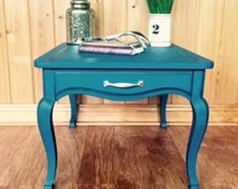 Vintage Goldsmithu0027s Furniture Blue End Table