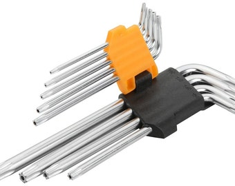Tolsen 9PCS Torx Long Arm Hex Key Set