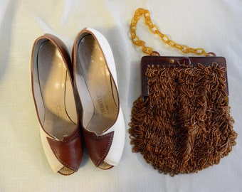 Brown/Cream Heel