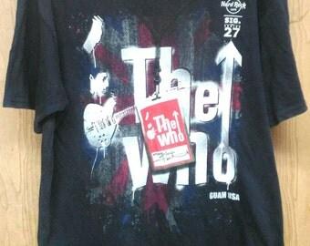 Rare The who Hard Rock Big Logo T-shirt