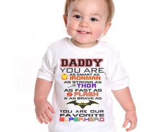 Superhero Dadddy Onesie, Superhero Daddy T-Shirt, Daddy you are as strong as, Daddy t-shirt, Dad superhero t-shirt