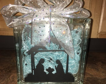 Glass block decorations etsy - Glass block decoration ideas ...