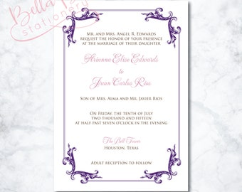 Ariana Wedding Invitation Design