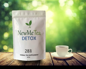 NewMeTea - 28 Detox tea for Weight Loss, Slimming, Fat Burn and to Calm & Cleanse Your Body. 100% Natural Herbs with Delicious Taste.