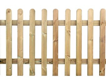 Wooden Picket Fence Panel 6ft Sections 2FT / 3FT / 4FT Heights - Pressure Treated Picket Fencing