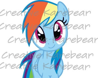 Rainbow Dash SVG and DXF Digital File Download