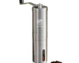Manual Coffee Grinder, Manual Coffee Grinder with Ceramic Blade, Stainless Steel Coffee Bean Mill