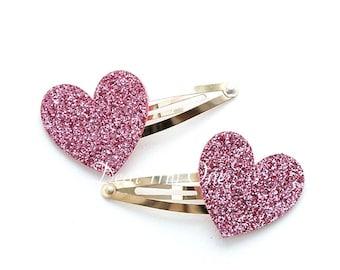 Heart, Heart Hair Clip, Heart Hair Pin, Glitter Heart Hair Pin, Girls Hair Clip, Kids Accessories, Baby Hair Clip, Heart accessories