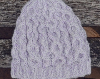 Lilac baby hat